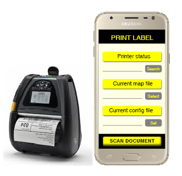 Mobile app for immediate labels modification