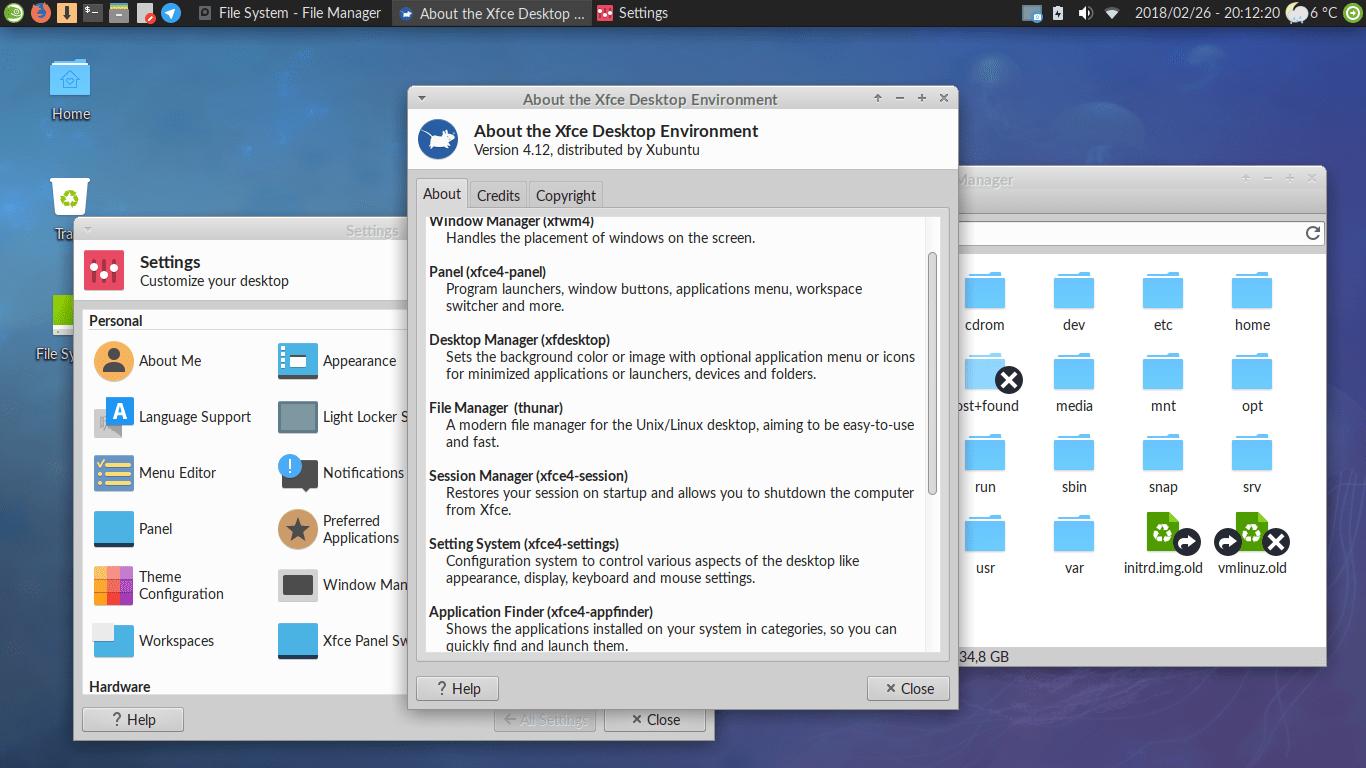 XFCE. HMI vs GUI